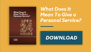 Personal Service email banner