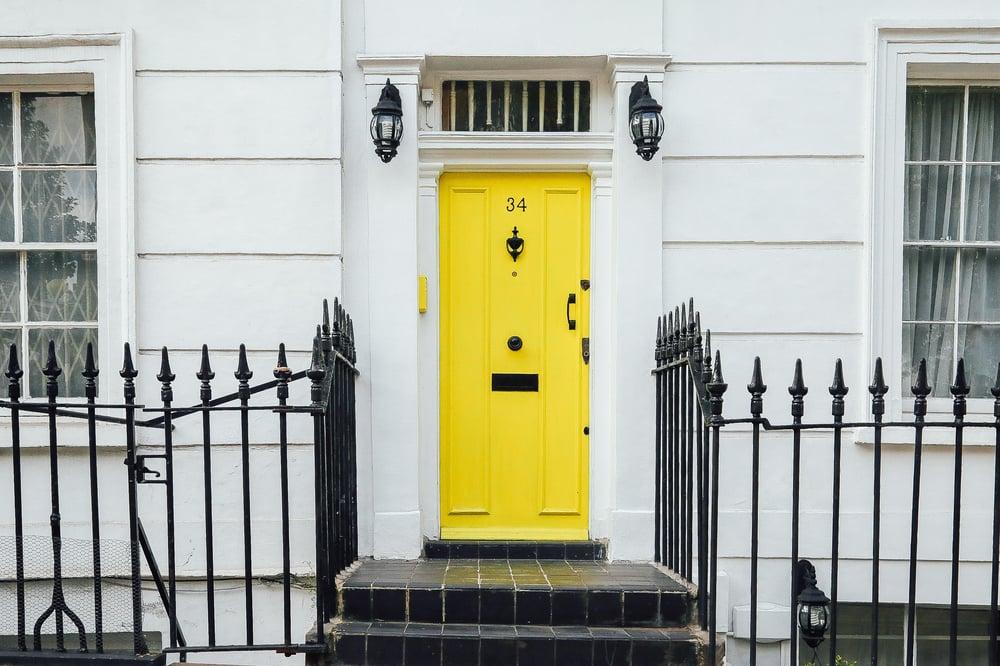 front door to rental home
